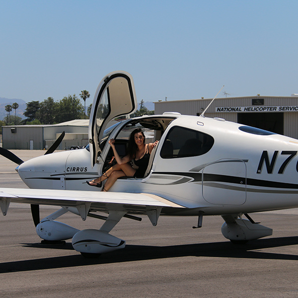 Cirrus-SR20-at-Van-Nuys-Airport Cirrus Aircraft Flight Training Los Angeles