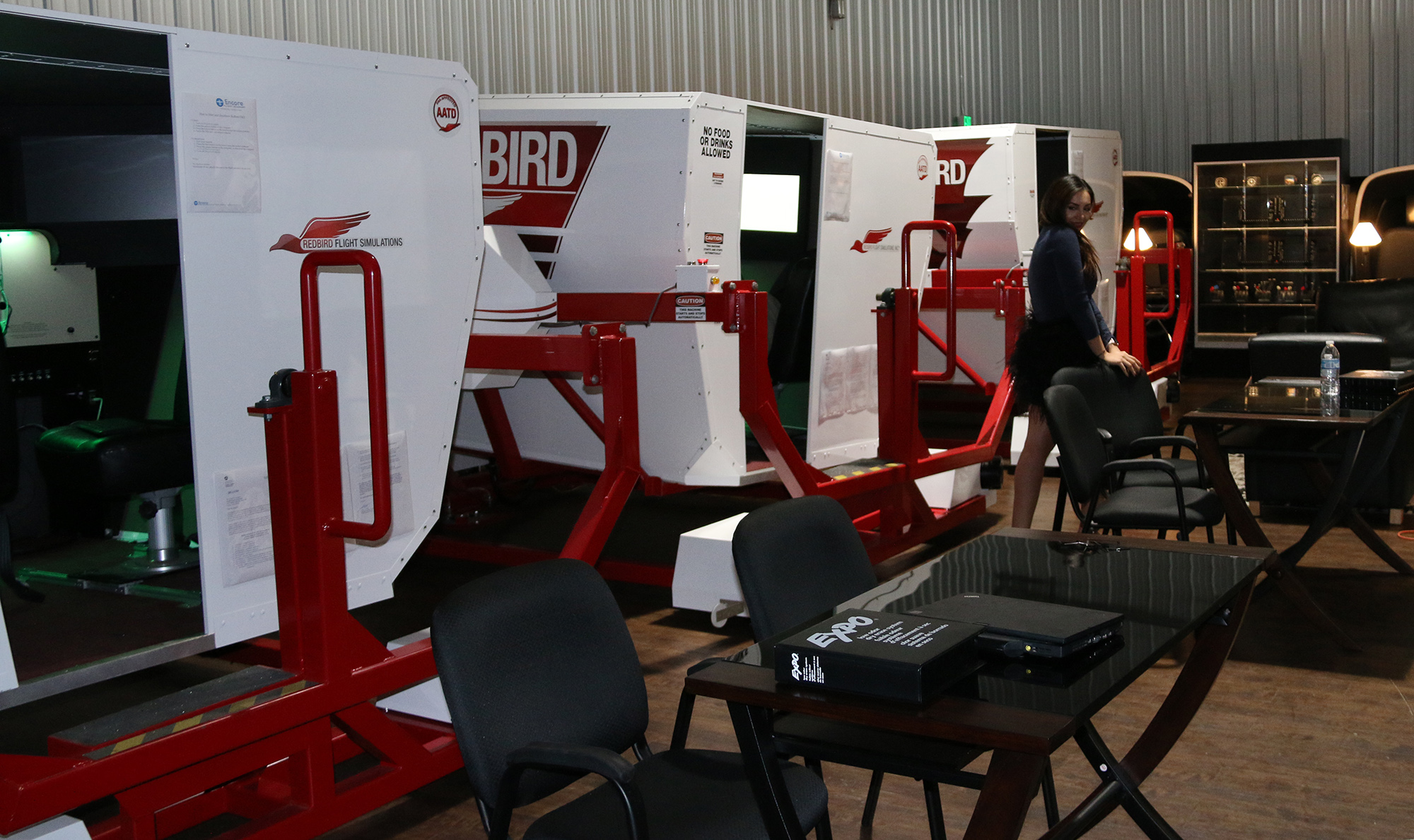 RedBird-Full-Motion-Flight-Simulators-at-Encore-Flight-School Flight School Van Nuys